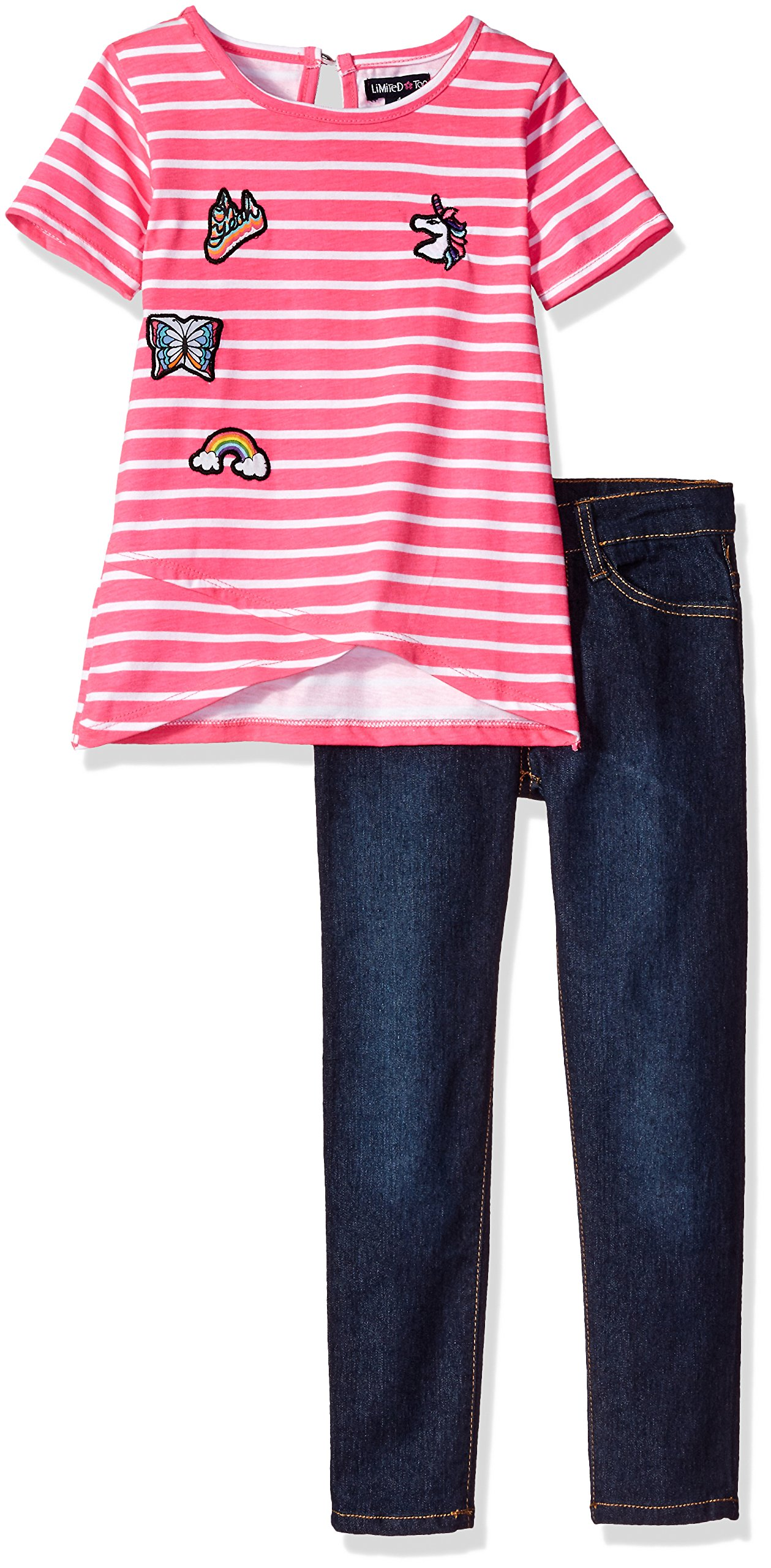 Limited Too Toddler Girls' Fashion Top and Pant Set (More Styles Available), Dark Blue Denim-Cbdd, 3T