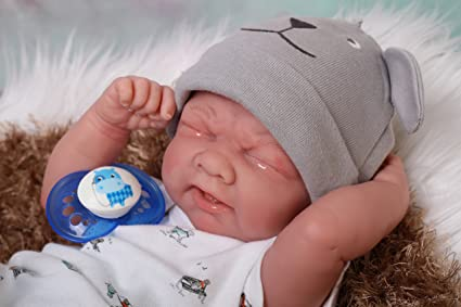 "SWEET BABY BOY PREEMIE 14/"" REBORN BERENGUER BOY DOLL W ONE SET OF CLOTHING"