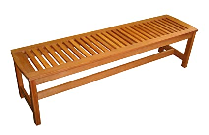 Amazon Com Arboria Outdoor Bench Backless Large 5 Foot Length