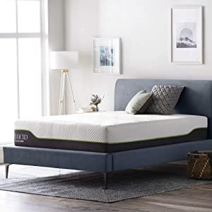 LUCID 12 Inch Twin Latex Hybrid Mattress - Memory Foam - Responsive Latex Layer - Premium Steel Coils - Medium Firm Feel - Temperature Neutral