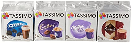 Tassimo Hot Chocolate Mega Pack   Cadbury, Oreo, Milka, Suchard Pods Discs   40 Servings Total by Tassimo