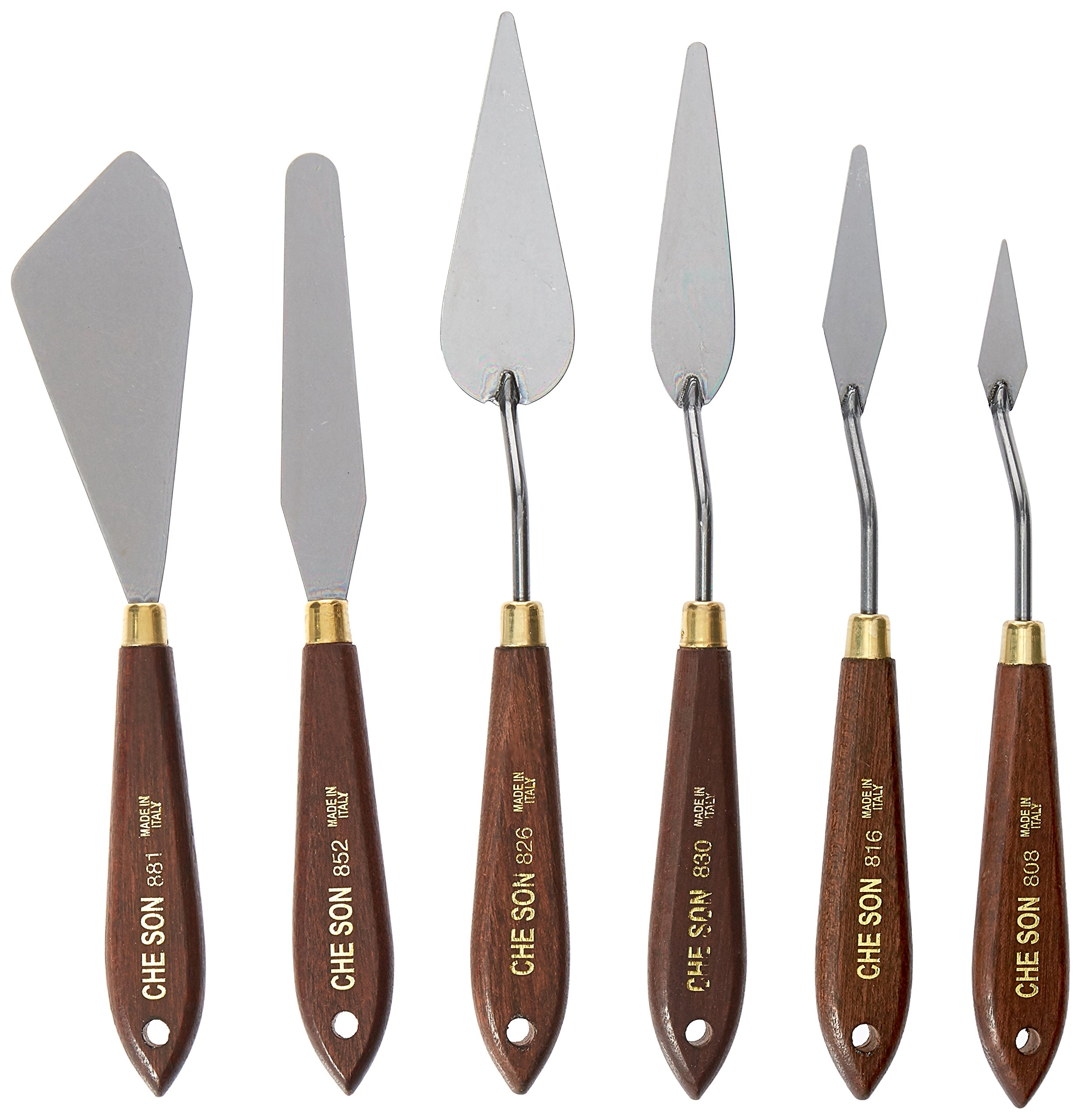 Jack Richeson Italian Knife Professional Artist Series in Wooden Storage Box, Set of 6