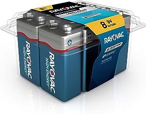Rayovac 9V Batteries, Alkaline 9V Battery (8 Count)
