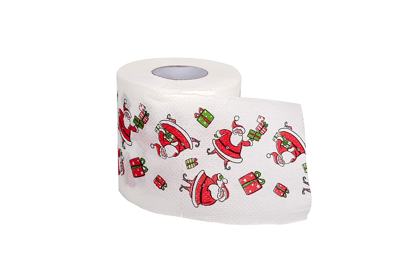 SummitLink 1 Roll of Merry Christmas Toilet Paper Tissue Napkin Prank Fun Birthday Party Novelty Gift Idea