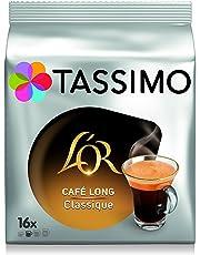 TASSIMO L'OR café Long Classique, dosettes à café souples, T-Discs Capsules, 5 paquets de 16 (80 Boissons)
