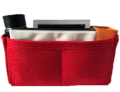 74cd584a51fd9 Purse Organizer Insert for LV Speedy Handbag - Fits inside Louis Vuitton  Speedy 30 bag - Thick Wool Blend Felt (30, Red)