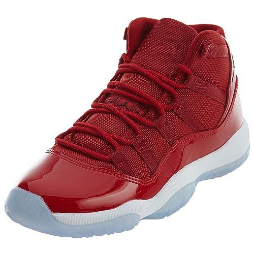 neuer Lebensstil Dauerhafter Service im Angebot Nike Herren Air Jordan XI Retro Win wie 96 Schuhe in Rot Glänzendem Leder  378038-620
