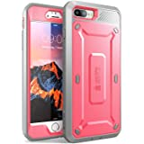 Supcase Unicorn Beetle PRO Series Full-body Rugged Holster Case with Built-in Screen Protector for Apple iPhone 7 Plus - Pink/Gray