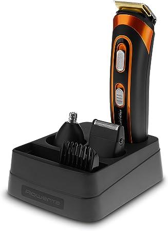 Rowenta Multistyler Trim&Style 5 en 1 TN9100 - Cortapelos para barba y cuerpo Wet & Dry con recubrimiento de titanio en sus cuchillas con 60 minutos de autonomía y base de soporte
