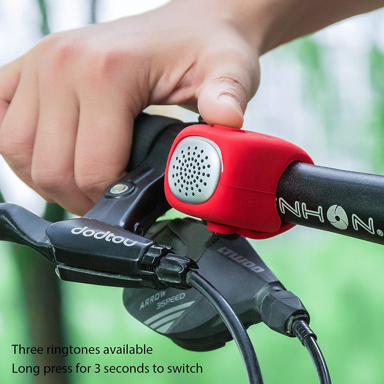 ROCKBROS Electric Handlebar Bell Cycling Bike Bells Horn Rainproof MTB Bicycle#