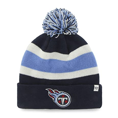 ... beanie navy grey idpbbse cbc77 836cf  order nhl tennessee titans 47  brand breakaway cuff knit hat with pom navy one cc33c b2221 1a9accc0fa52
