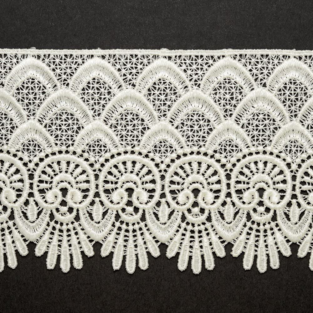 1000 cotton black embroidered bridal lace trim Sold by 1//2 yard