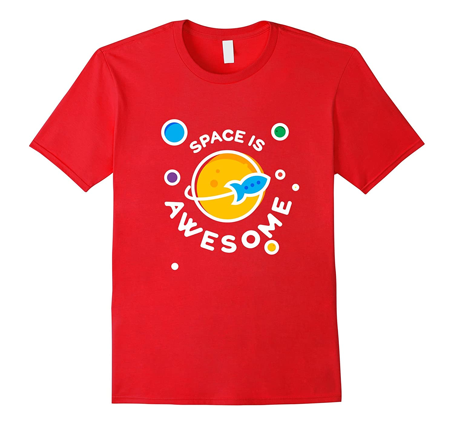 Kids space shirt - Space is awesome - Gift for space lover-PL