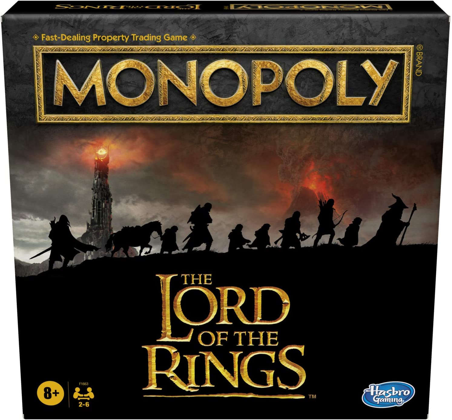 Hasbro Games Monopoly: The Lord of The Rings Edition Board Game Inspired by The Movie Trilogy, Play as a Member of The Fellowship, for Kids Ages 8 and Up (Amazon Exclusive)