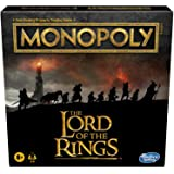 Hasbro Gaming Monopoly: The Lord of The Rings Edition Board Game Inspired by The Movie Trilogy, Play as a Member of The Fello