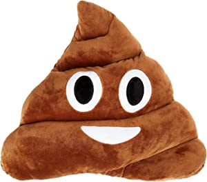 SciencePurchase Pile Poo Plush Toy Doll defecate pad Throw Chair seat Cushion, Brown
