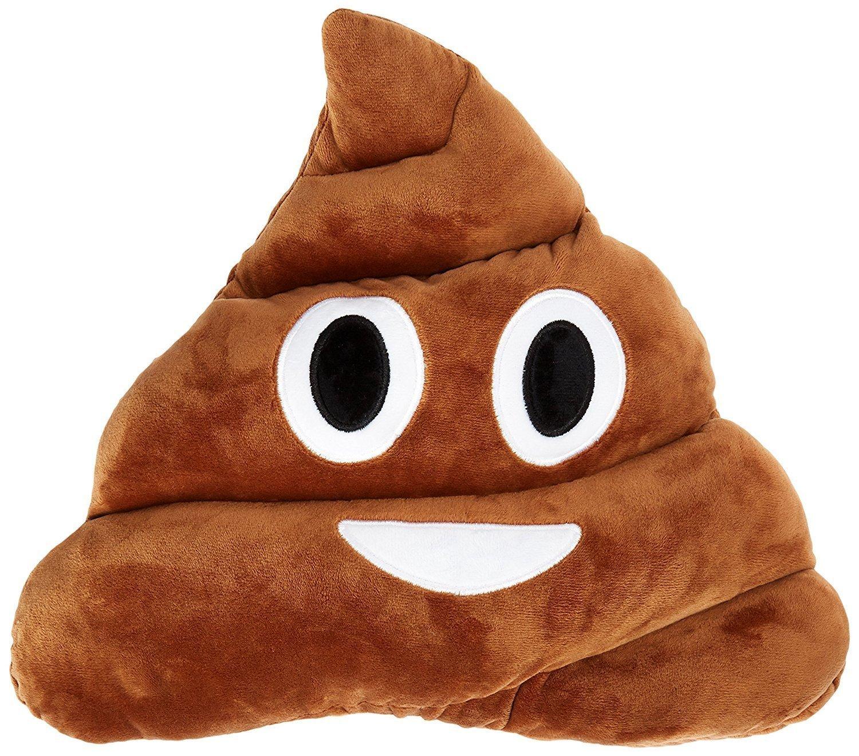 GANKE Poop Emoji Plush Pillow Round Cushion Toy, 32 x 32 x 10 cm Large Emoticon Pillow - Gift for Boys, Girls, Kids & Children.