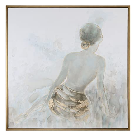 Amazon.com: Gold Nude Female Wall Art Painting | Spa Lady Relaxation ...