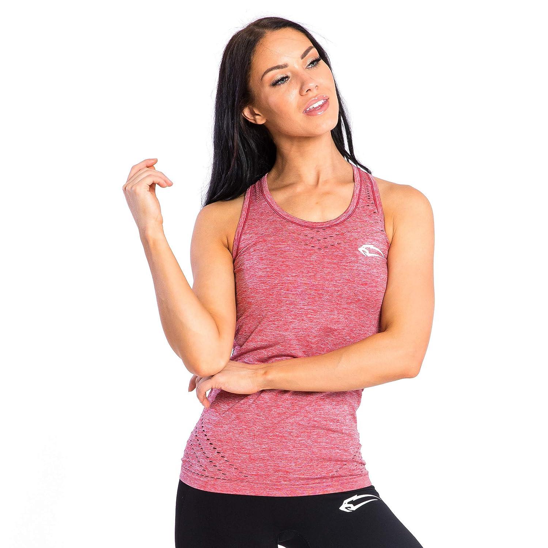 SMILODOX Sport Tank Top Dames 'Mel' | Seamless - Chemise d'entraî nement idé ale pour Le Gym Fitness et l'entraî nement | Sports sans Manches T-Shirt | Sportstop | Cut Out Style