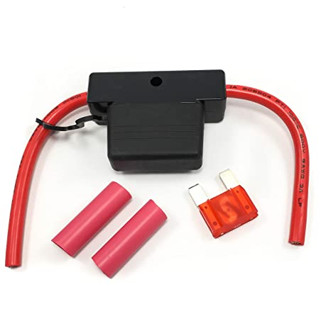 maxi fuse holder red leads 5\