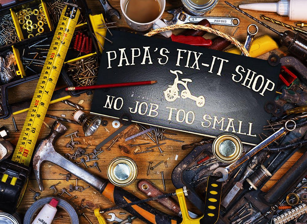 Man Cave and Garage Wall Decor Signs (Papa's Fix-It Shop) - ***HANDMADE IN THE USA BY A LOCAL ARTIST*** ***UNIQUE GIFT FOR ANY MAN CAVE OR GARAGE*** ***HIGH QUALITY MATERIALS AND CRAFTSMANSHIP*** - living-room-decor, living-room, home-decor - 81d7OWfxaKL -
