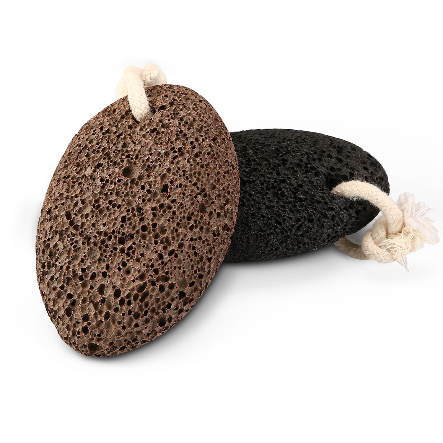Volcanic Lava Pumice Stone to Remove Dead Skin - Natural Foot Scrubber and Callus Remover for Feet and Hands - Ultimate Pedicure Tools - Natural Foot File - 2Pack