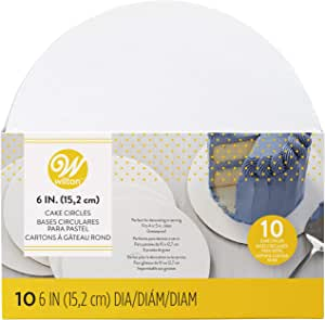 Wilton 6-Inch Round Cake Boards, 10-Count