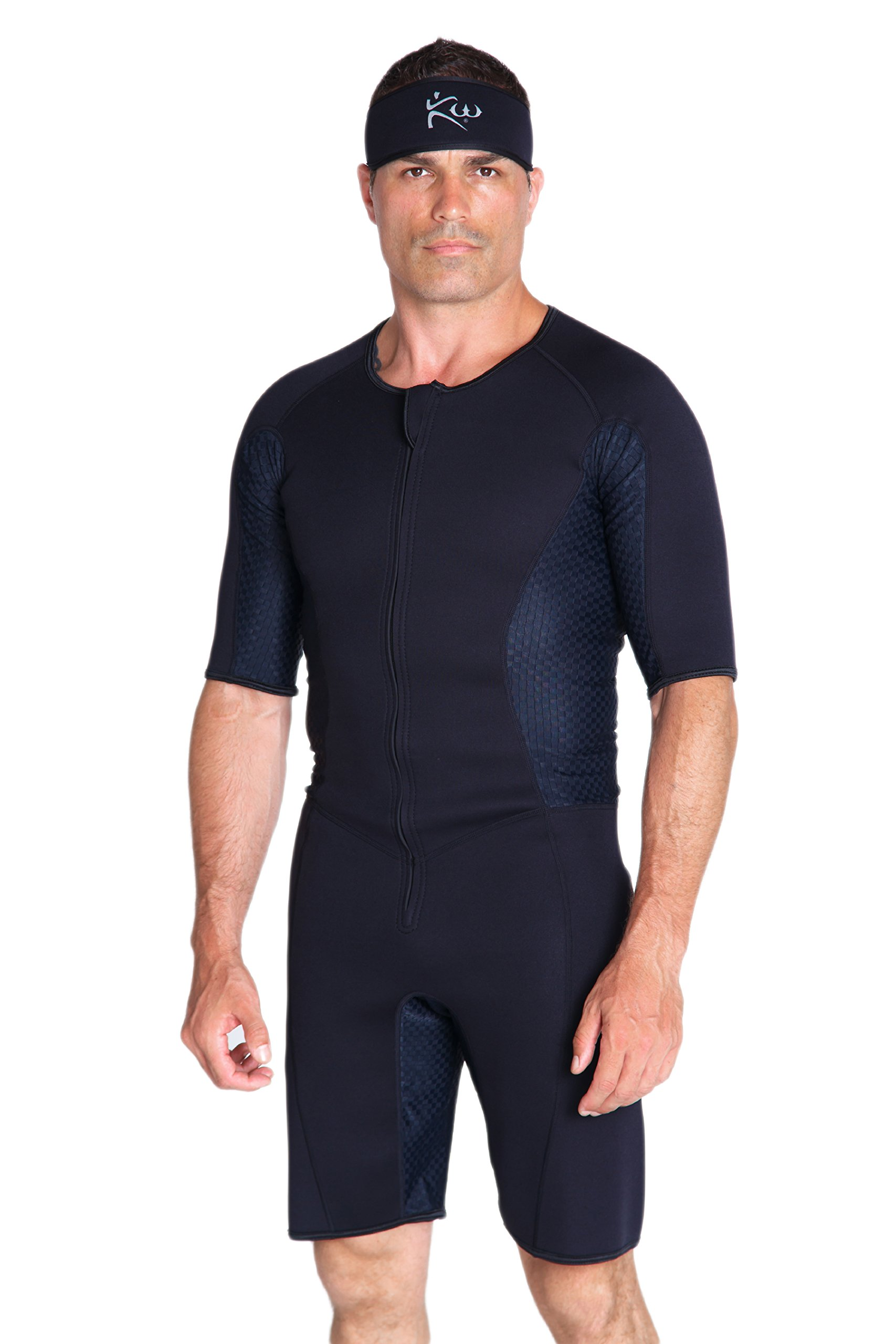 Kutting Weight Neoprene Weight Loss Men's & Women's Sauna Suit (Black, 3XL) by Kutting Weight (Image #1)