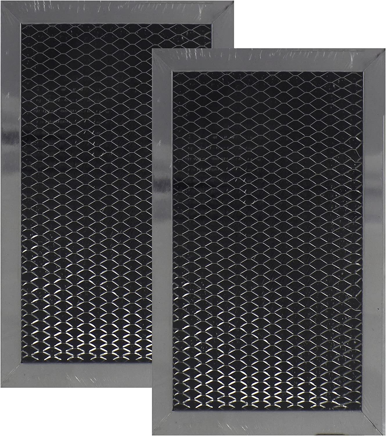 2 Pack Air Filter Factory Compatible Replacement For Ge Jx81C, Wb2X10776 Microwave Charcoal Carbon Filter