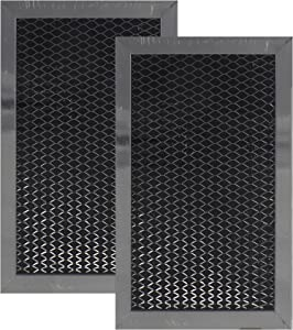 2 PACK Air Filter Factory Compatible Replacement For GE WB02X10776, JX81C Microwave Charcoal Carbon Filter