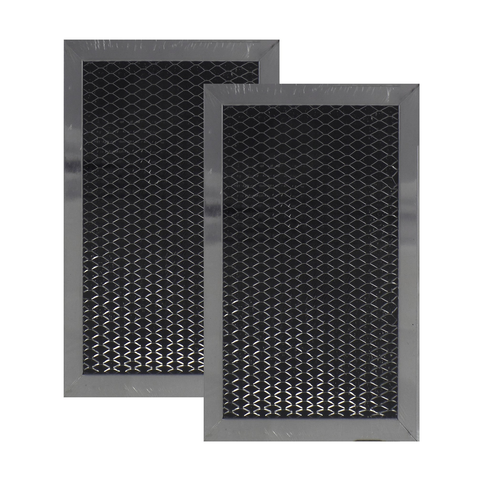 Air Filter Factory 2 PACK Compatible Replacement For LG 5230W1A011C Microwave Oven Charcoal Carbon Filter by Air Filter Factory