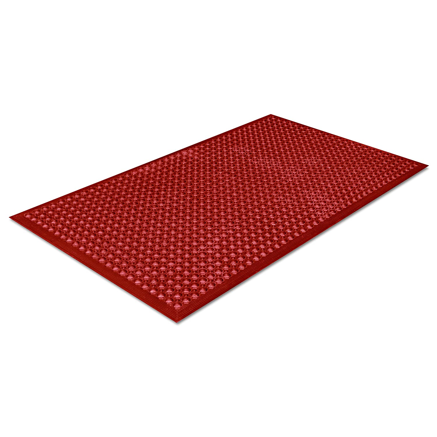 Crown Safewalk-Light Heavy-Duty Antifatigue Mat, Rubber, 36 x 60, Terra Cotta WSCT35TC