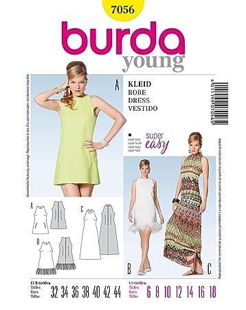 Burda Schnittmuster Kleid, Minus-Schulter: Amazon.de: Küche & Haushalt