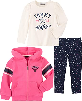 Tommy Hilfiger Baby Girls 3 Pieces Jacket Set