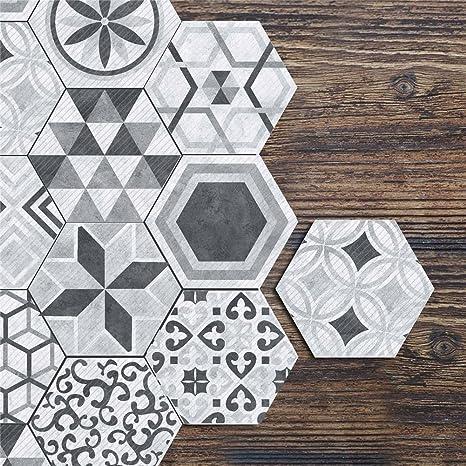 Diy Tile Sticker Decor Waterproof Wall Floor Sticker Backsplash Tile