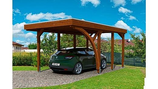 Skan Holz Carport Friesland Set 5 - Caña de Pescar con Arco de Entrada (Madera de Nogal): Amazon.es: Jardín
