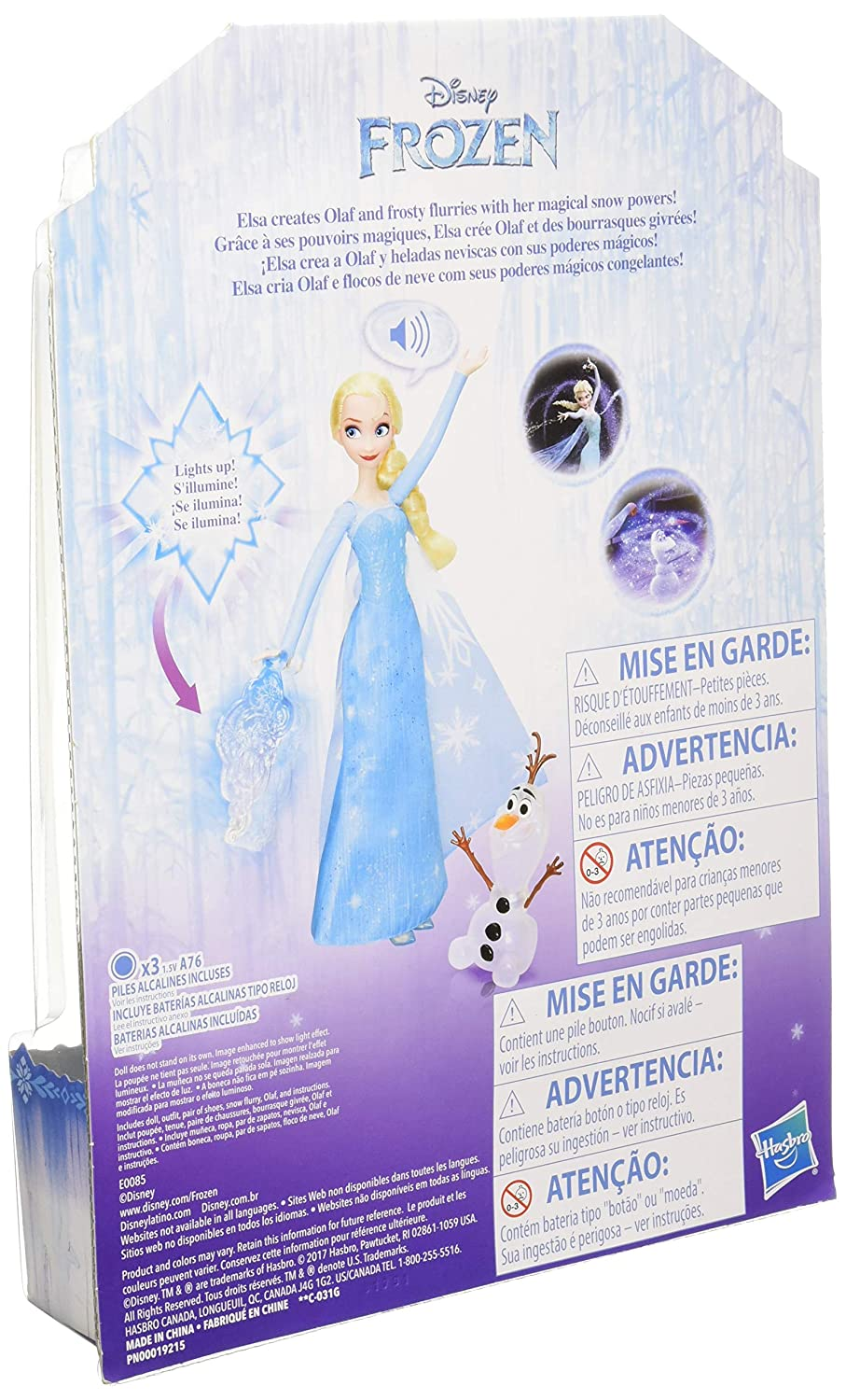 Amazon.com: Disney Frozen ICY Lights Doll Dolls & Accessories: Toys & Games