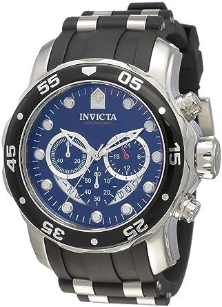 b01fa5d67cf3 Invicta Men s 6977 Pro Diver Collection Chronograph Black Dial Black  Polyurethane Watch