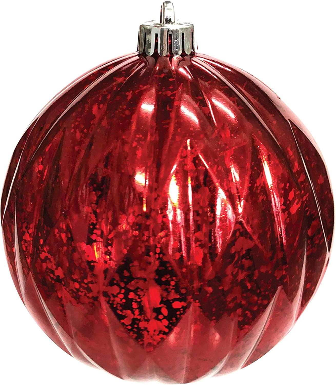 9 Ornaments Glasburg Red Christmas Mercury Glass Drop Finial Ornament