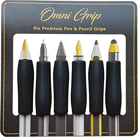 Omni Grip 6-Pack of Premium Comfort Grips Pens and Pencils Styluses Perfect for Apple Pencil Apple Pencil 2