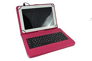 Theoutlettablet® Funda con Teclado extraíble en español (Incluye Letra Ñ) para Tablet Bq Aquaris M10 / Bq Edison 3 / Woxter QX105-103 / Samsung Galaxy ...