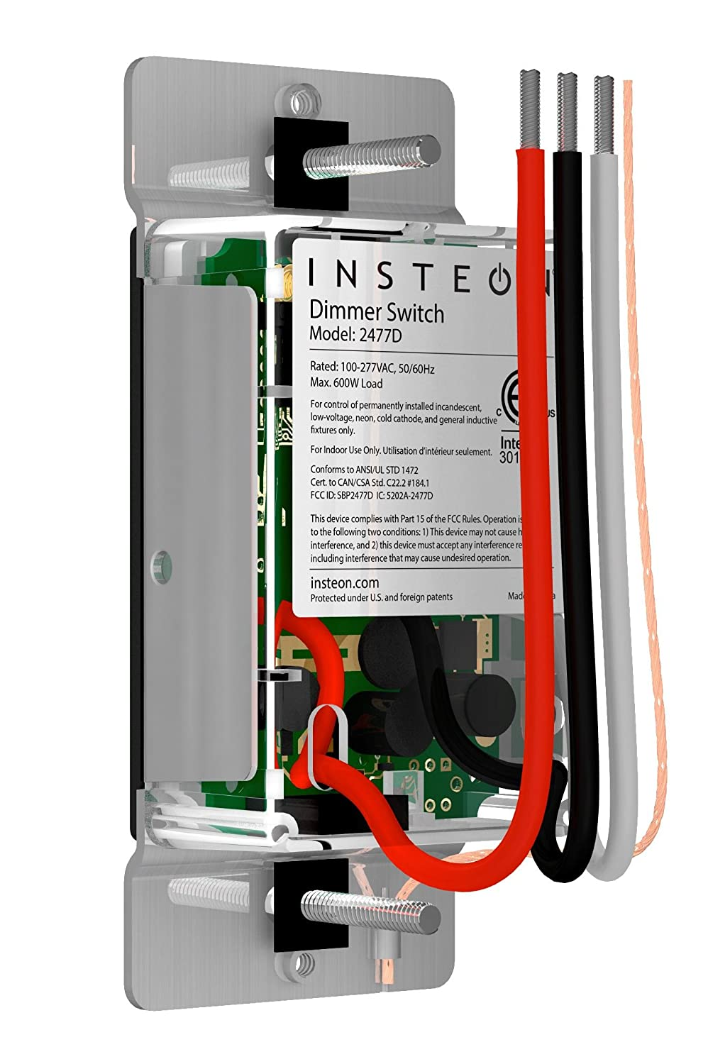 Insteon SwitchLinc Remote Control Dimmer, Dual-Band, Works with Alexa -  Wall Dimmer Switches - Amazon.com