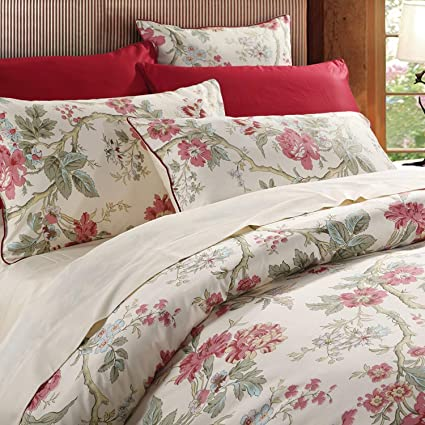 7ff3fe42adf1 Image Unavailable. Image not available for. Color: Brandream Floral Duvet  Quilt Cover Set King Size Chinoiserie Peony Printed Bedding ...
