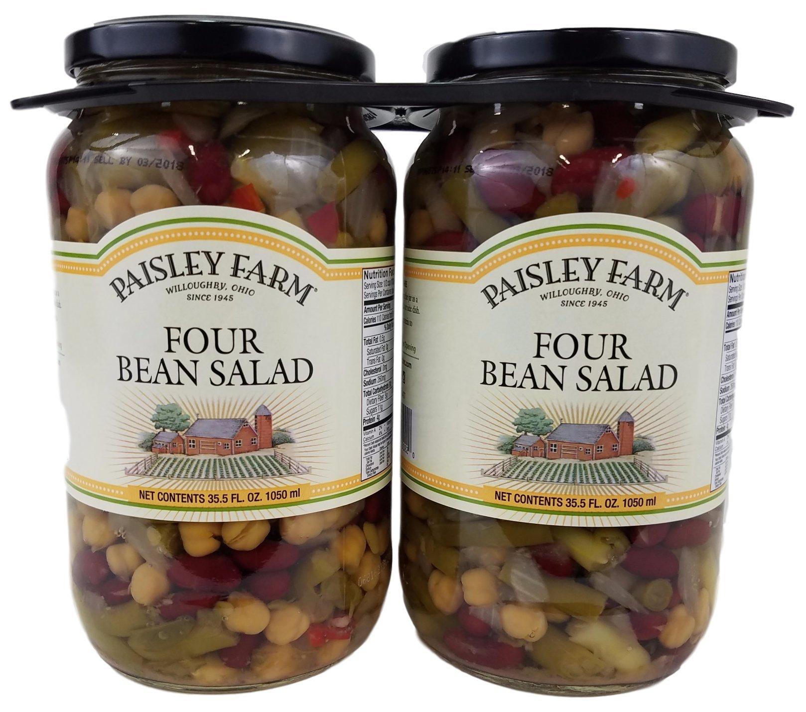 Paisley Farm 2- 35.5 Oz Natural Four Bean Salad, 71 Oz