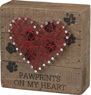Amazon Com Primitives By Kathy String Art Box Sign Puppy