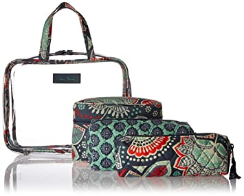 Image Unavailable. Image not available for. Color  Vera Bradley Luggage  Women s Four-Piece Cosmetic Organizer ... 834dc46fad
