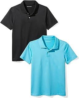 dcbfe04bb Amazon.com: Amazon Essentials Boys' Short-Sleeve Uniform Pique Polo ...