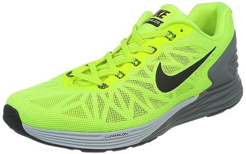 reputable site e0986 d0ca5 Nike Lunarglide 6, Zapatillas de Running para Hombre, Verde Negro Gris  (Volt Black-Pr Platinum-Cl Gry), 41 EU  Amazon.es  Zapatos y complementos