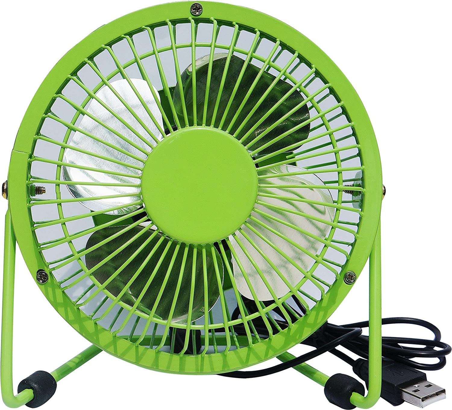 """Mini 4 Metal Portable Fans with USB Electric Cablel Personal Fans for Table Laptop Room Office or Mobile Power Bank (4"""", Black) YHLCSQ"""