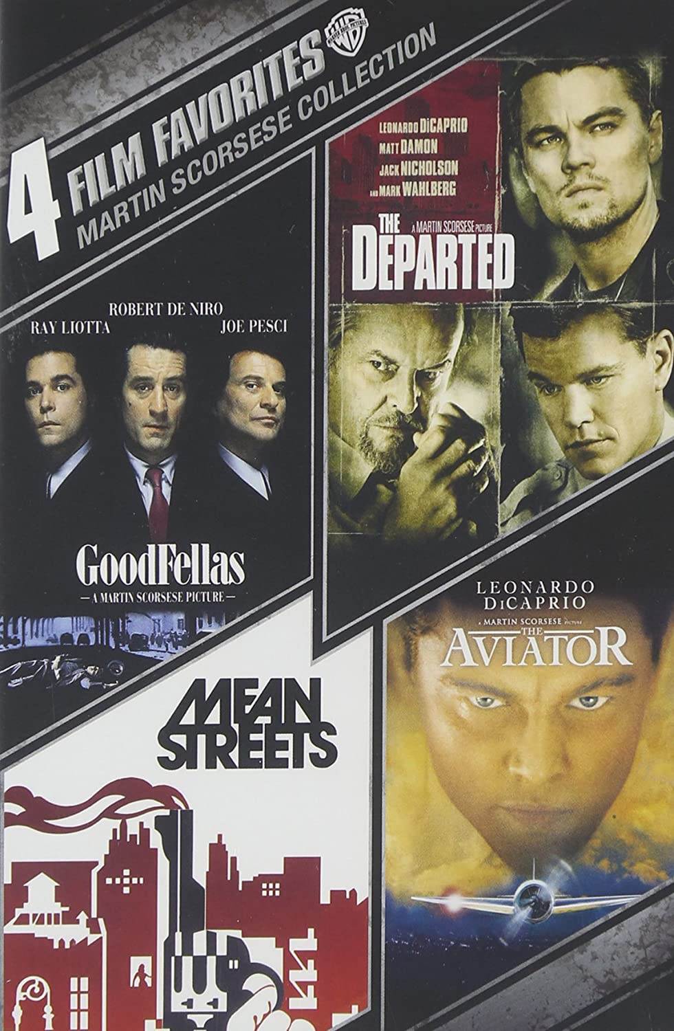 amazoncom 4 film favorites martin scorsese goodfellas the departed the aviator mean streets special edition robert de niro ray liotta